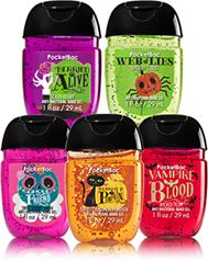 halloween fun 5 pack pocketbac sanitizers soapsanitizer bath body works