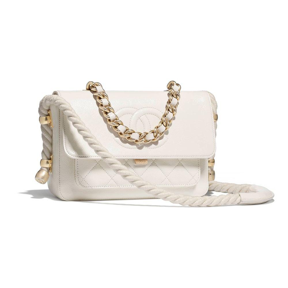 2e3408939a1de5 Chanel-White-Rope-Flap-Bag: Chanel Flap Bag $4,800 | BAGS and ...