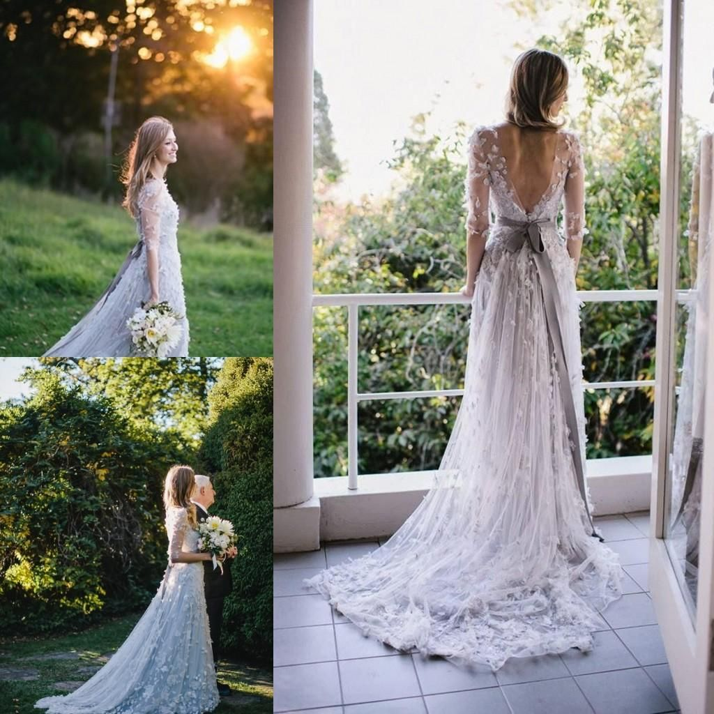 Bridal Wedding Dress Custom Made Light Blue Vintage Wedding Dresses With Appliqued Tulle A Line Bridal A Line Bridal Gowns Gold Wedding Gowns Wedding Dresses [ 1024 x 1024 Pixel ]