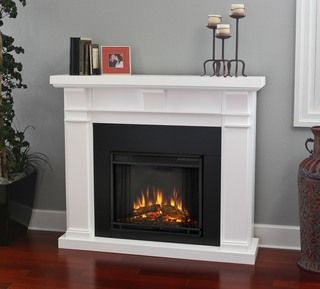 Electric Indoor False Fireplace White Electric Fireplace Indoor
