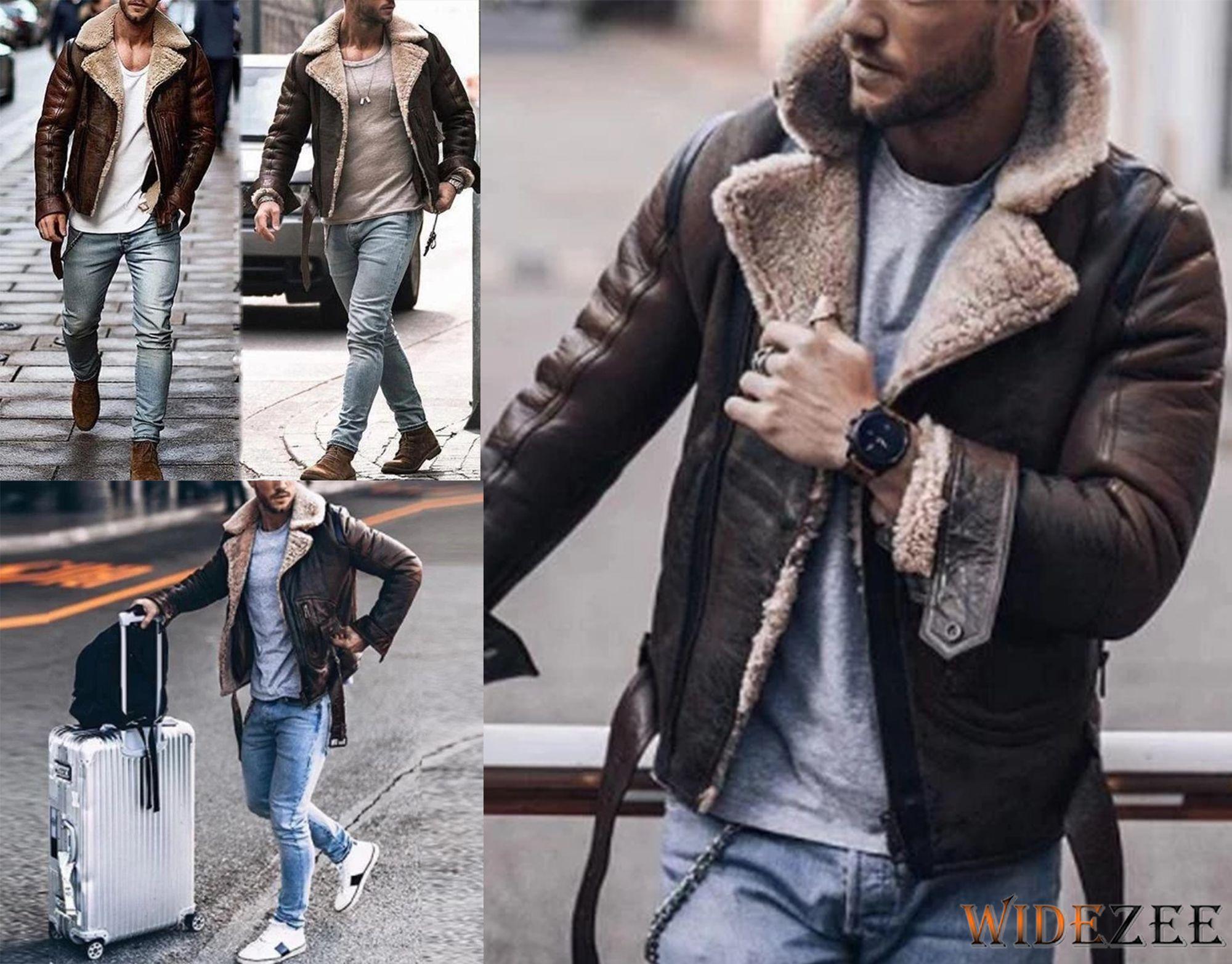 Fashion Lapel Long Sleeve Men Jackets Jackets Winter Jackets Mens Jackets