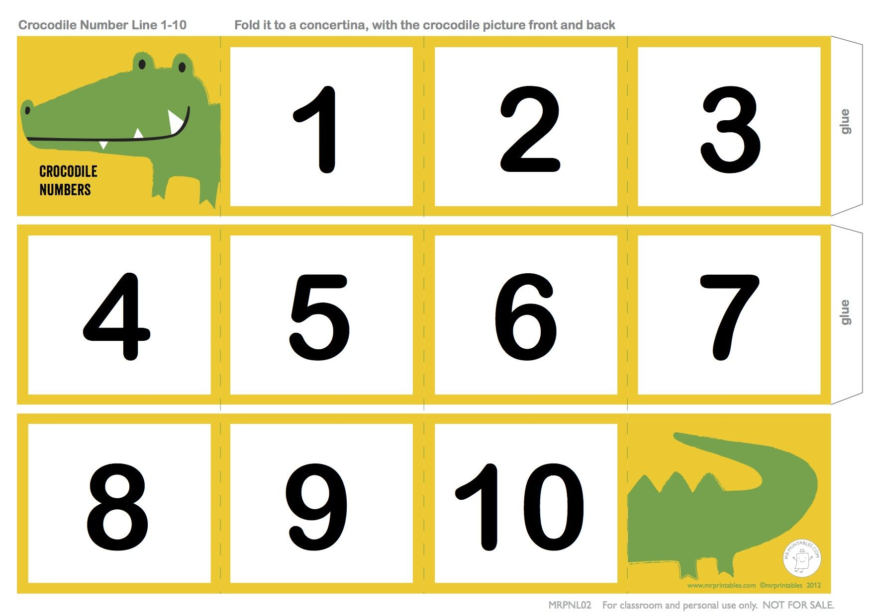 Crocodile Number Line