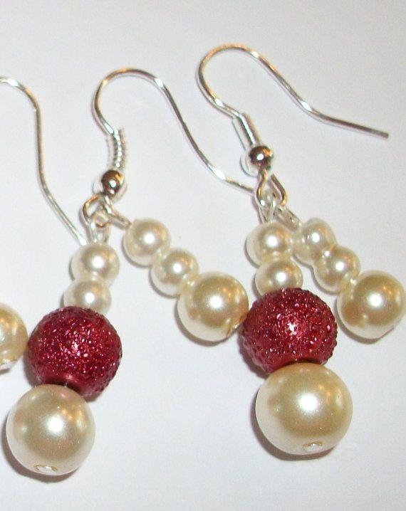 3 sets Bridesmaid Earrings Classic Cream by ElizabettaJewellery