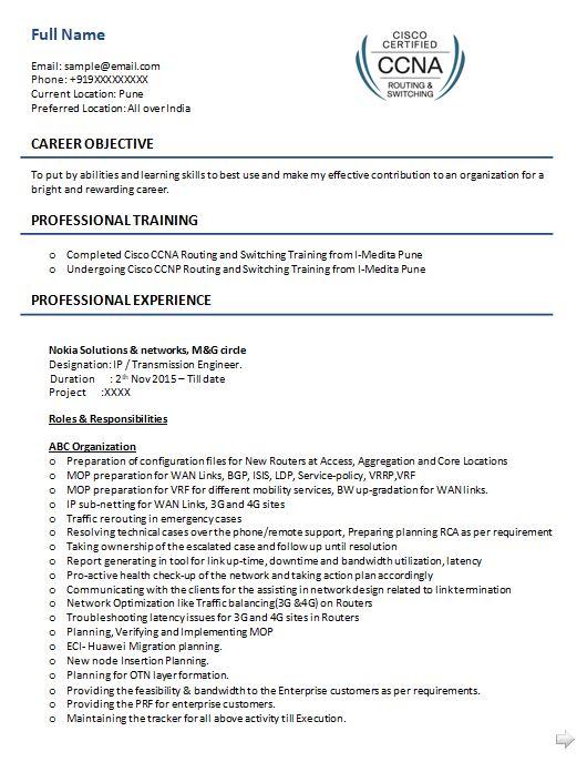 Ccna Resume Samples Top 5 Ccna Resume Templates In Doc Resume Security Resume Internship Resume
