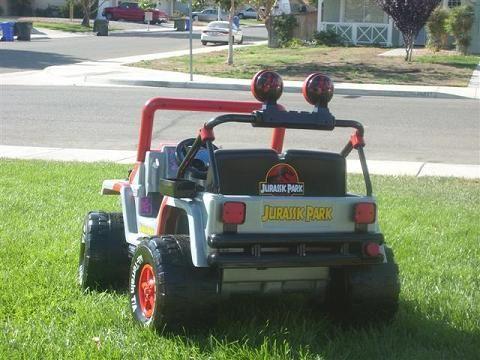 Barbie Jeep Redone To Jurassic Park Jeep Jurassic Park Jeep