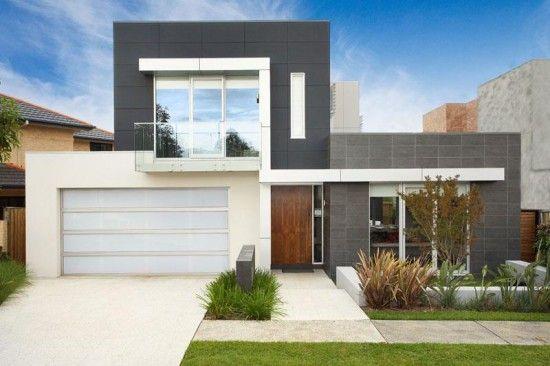 modelos de fachadas de casas modernas de dos pisos Diseño de