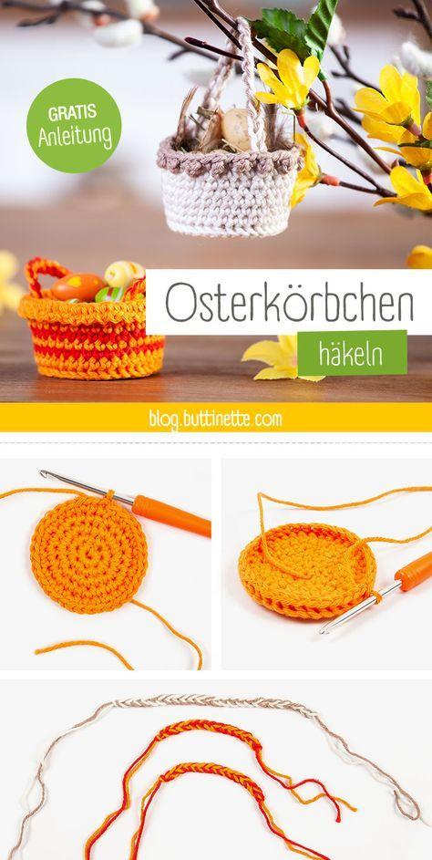 Photo of DIY-Ostern: Mini-Osterkörbchen selbst häkeln