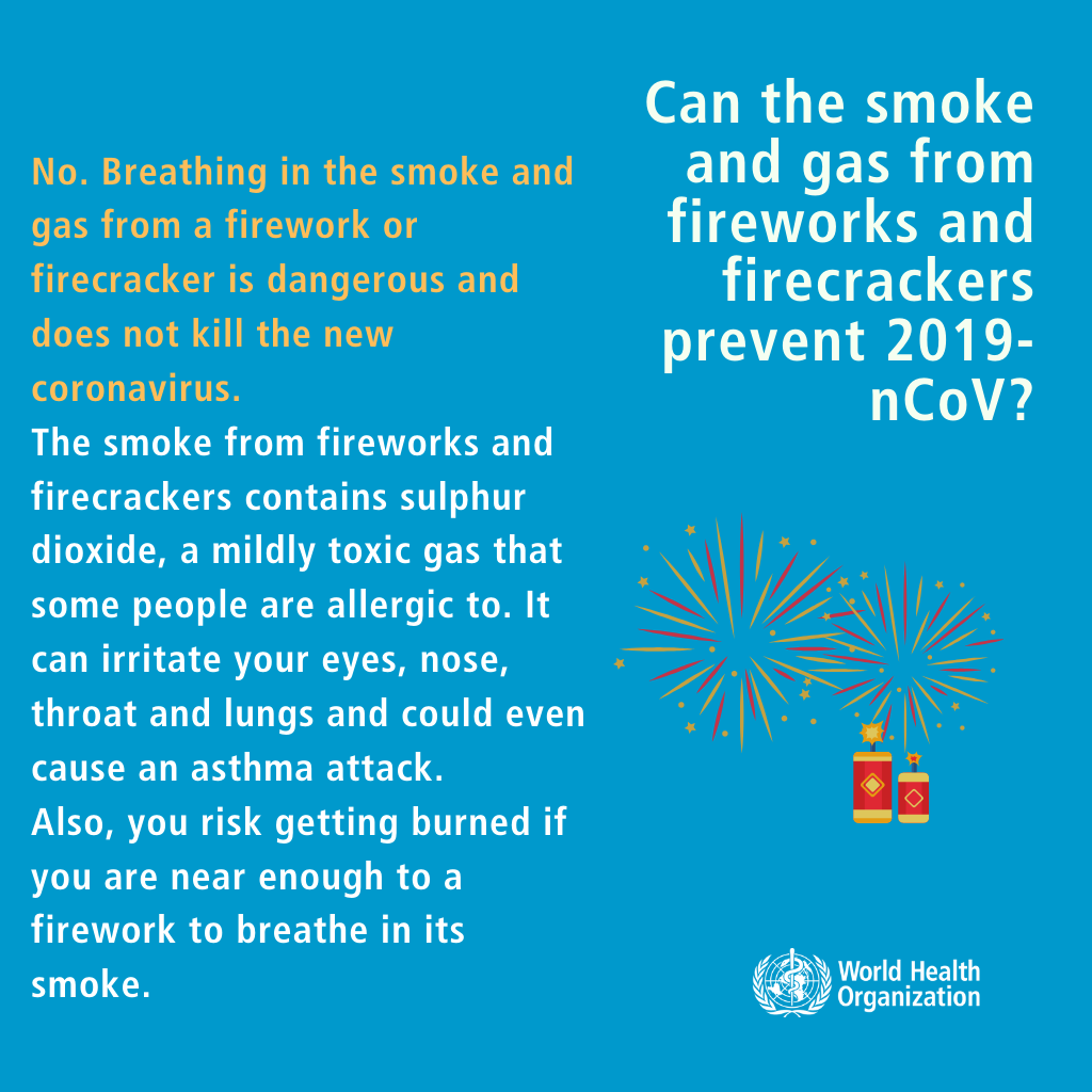 Q Can the smoke and gas from fireworks and firecrackers
