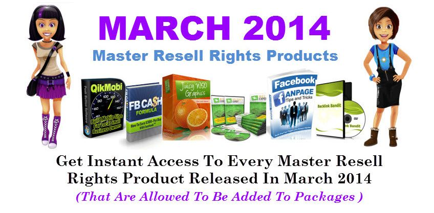Master Resell Rights March 2014