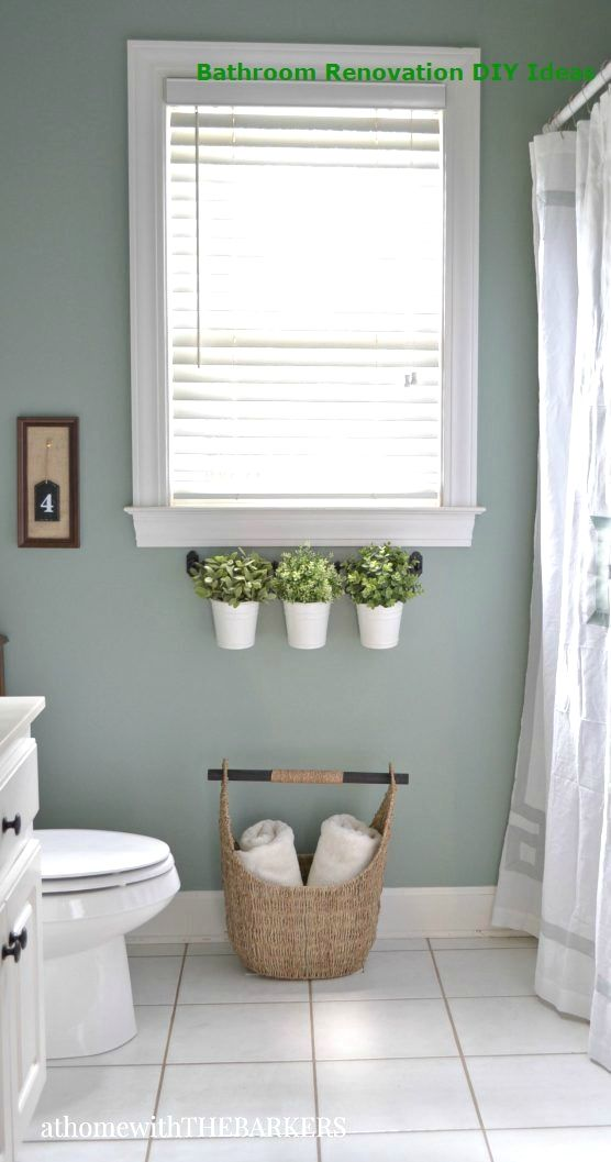 15 DIY Ideas for Bathroom Renovations  #remodeling #bathroomdecor #whitebathroompaint