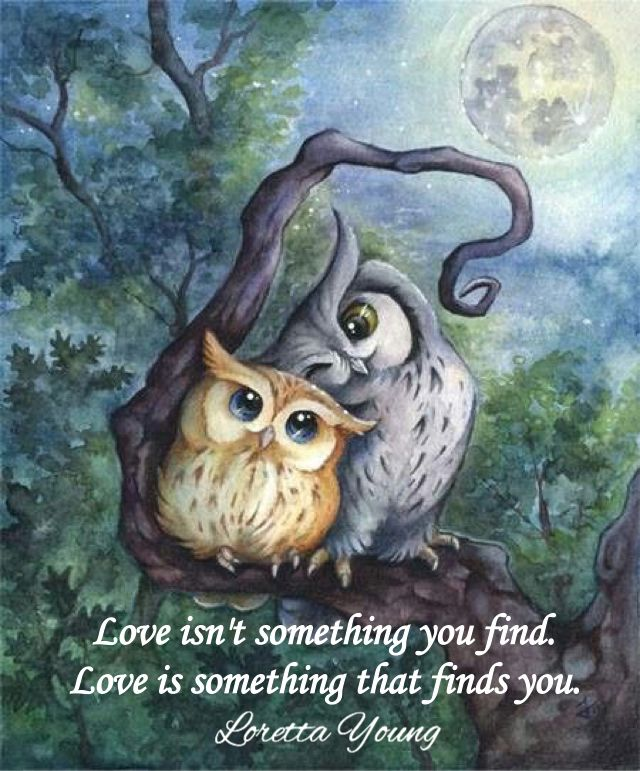 Love Isnu0027t Something You Find. Love Is Something That Finds You. Loretta