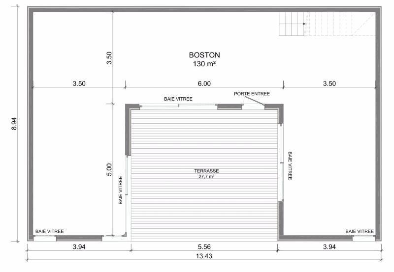 Plan De Maison Moderne En Forme De U Plan De Maison Moderne Plain Pied Plan Maison Moderne