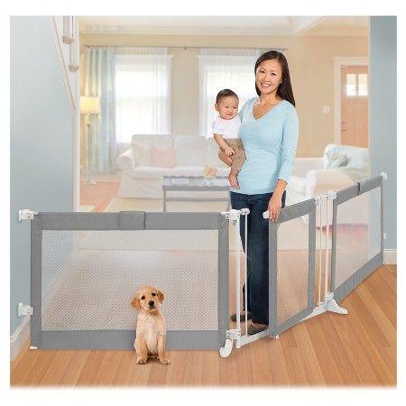 Summer Infant Walk Thru Custom Fit Baby Gate Grey Target