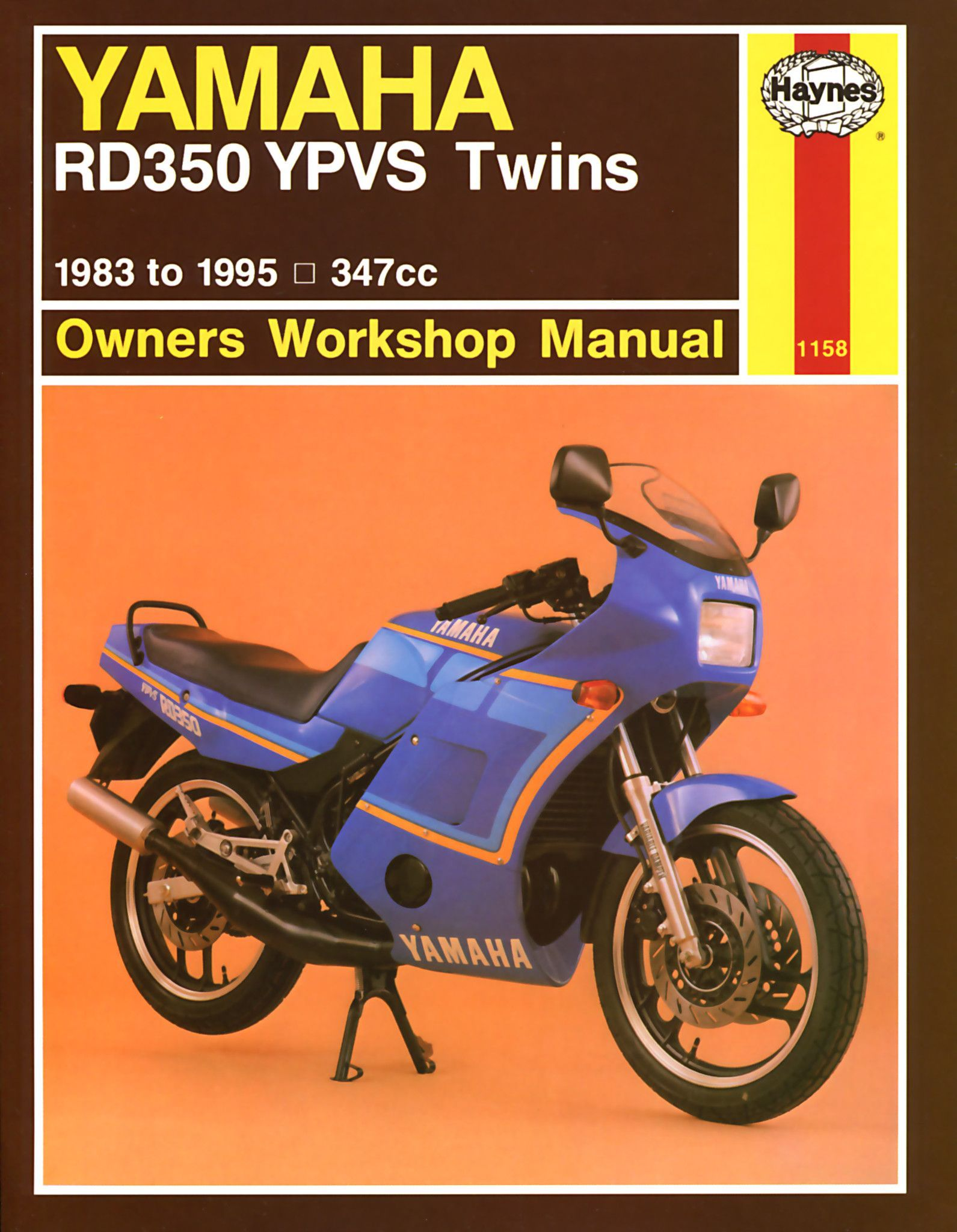 Haynes M1158 Repair Manual for 1983-95 Yamaha RD350 YPVS Twins 347cc models