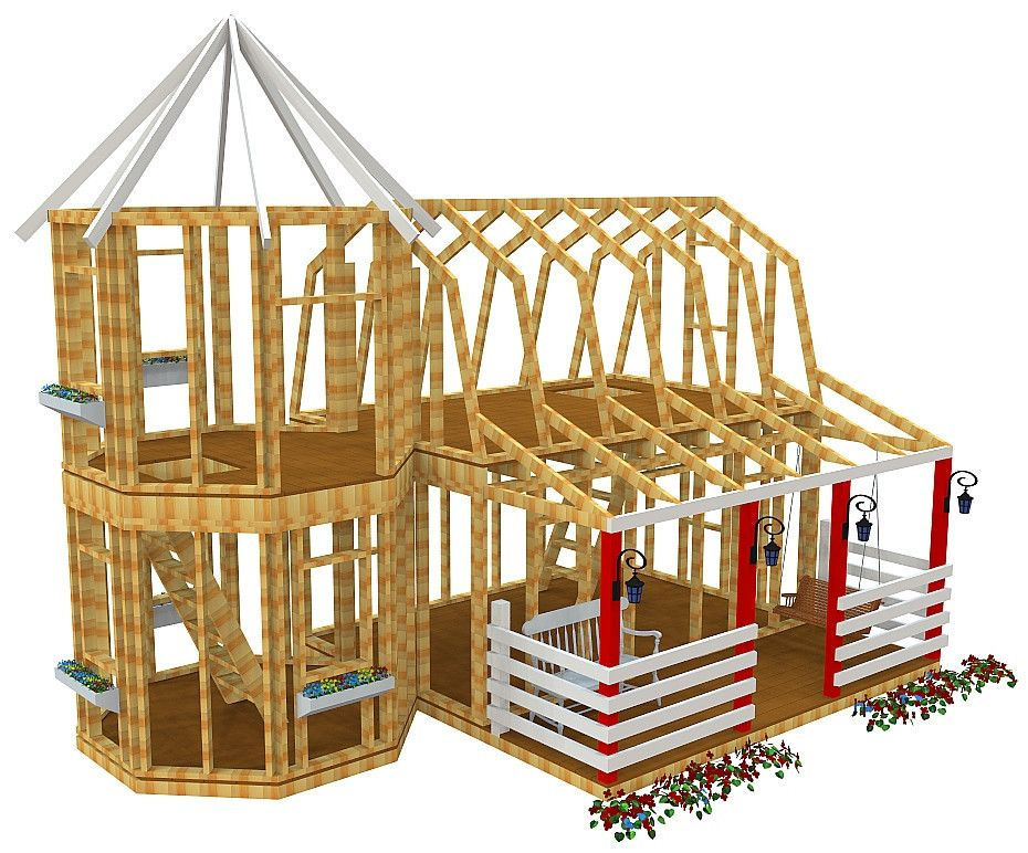 Barn silo playhouse plan playhouse plans playhouses for Blueprints for playhouse