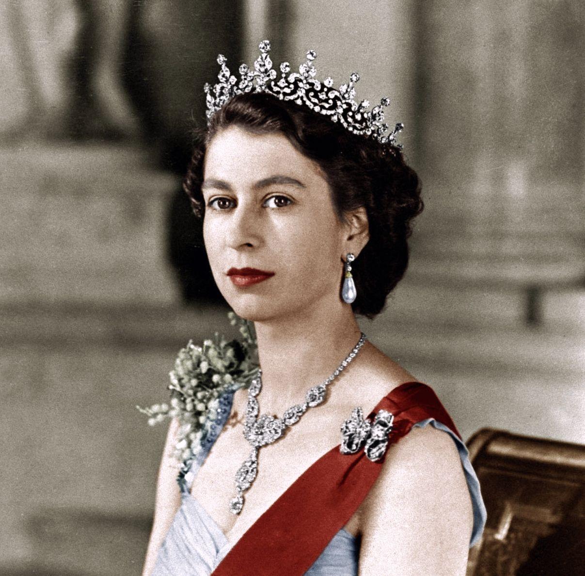 young Queen Elizabeth II wearing The Girls of Great