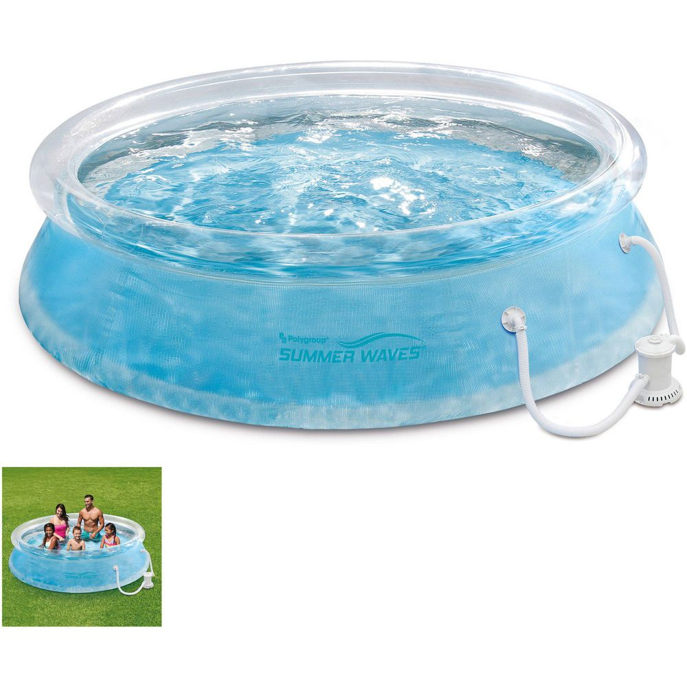 Round Transparent Ring 10 Swimming Pool W Pool Pump Filter Cartridge Summerpools Swimming Pools Backyard For Kids Swimming Pools Backyard