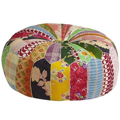 Old Bengali Patch Pouf Ottoman Furniture Addiction Pinterest Simple Pier One Pouf