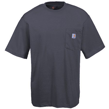 Carhartt Clothing Men's K87 CHR Grey Cotton Jersey Knit Pocket Tee Shi