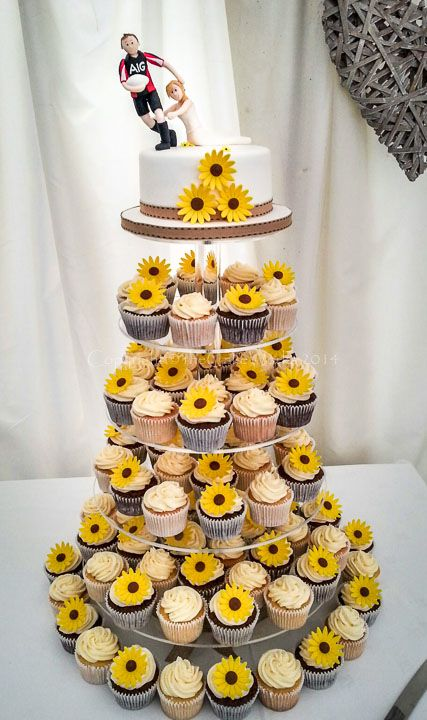 Cupcakes The Cake Works Maker For Darlington And North East Sunflower Wedding