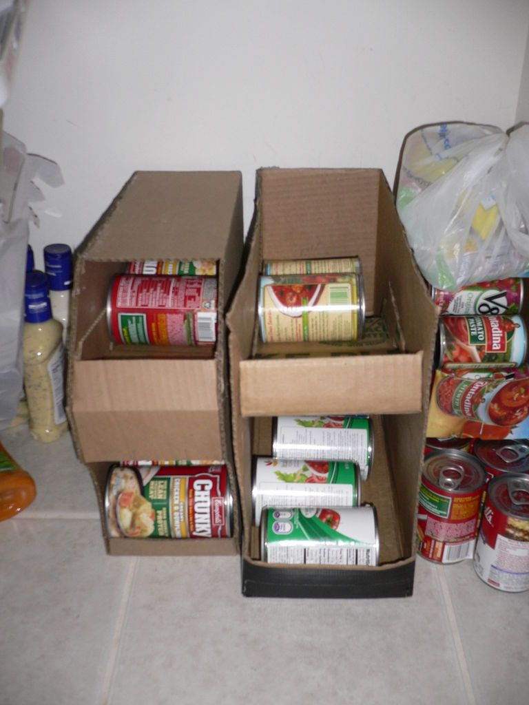 How To Make A Can Organizer Out Of Cardboard Diy Pantry