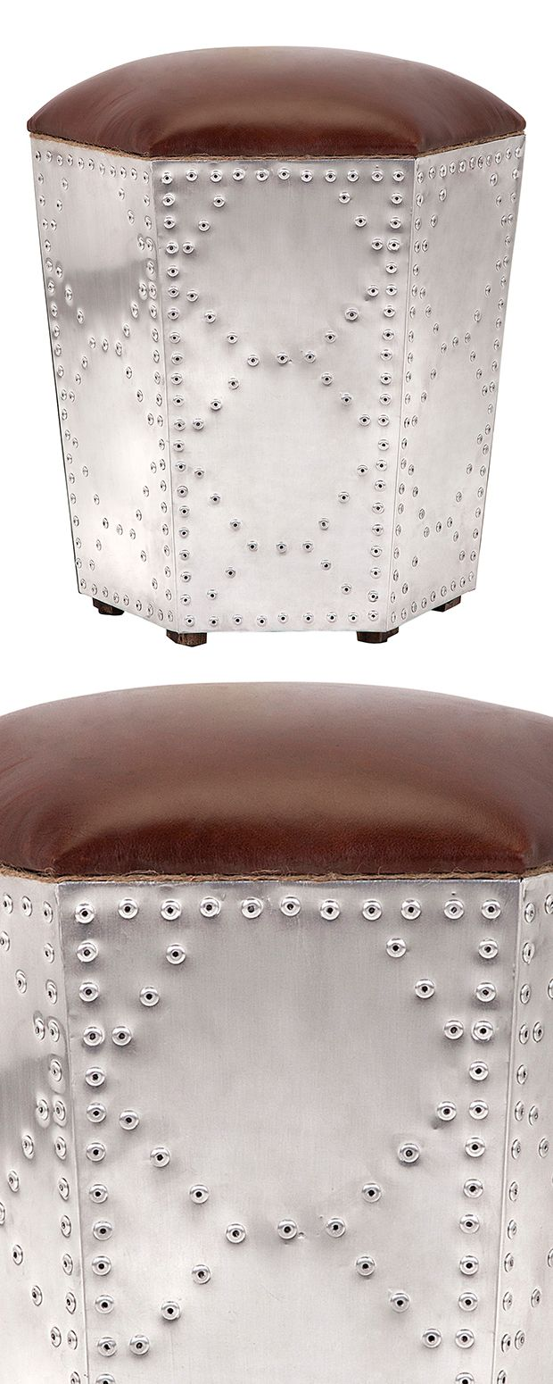 A Pretty Perch For Weary Feet And Seats, Our Perforated Steel Bongo Stool  Drums Up