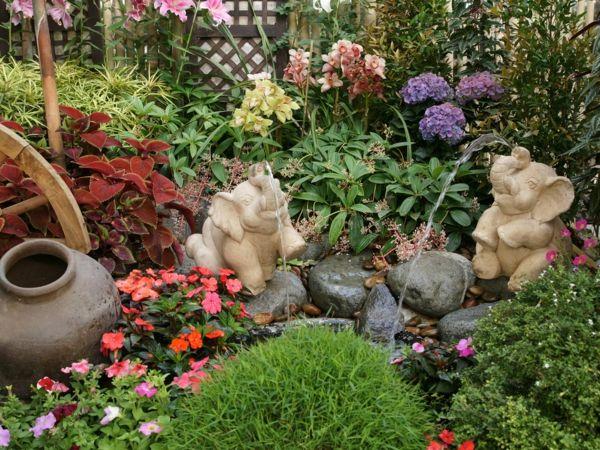garten ideen gartengestaltung steine stauden gartenpflanzen, Hause und Garten