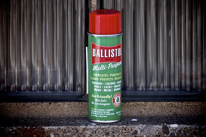Ballistol (6oz.) - L.T. Wright Handcrafted Knives. Lubricate, penetrate, clean, protect, preserve your knives firearms, leather, tools and more with Ballistol.