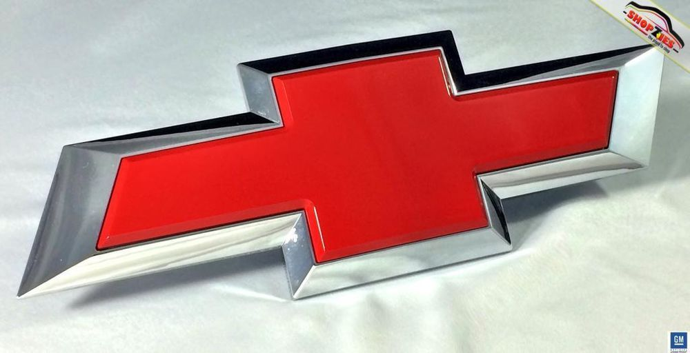 Chevy Silverado Bowtie Emblem Billet Insert Replacement Rear 1pc Victory Red