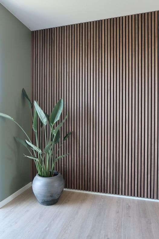 Photo of Acupanel Rustic Walnut Acoustic Wood Wall Panels