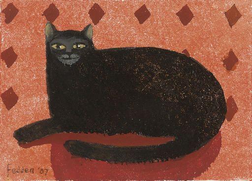Black Cat, Mary Fedden. English, (1915 - 2012)   Art   Cat ...