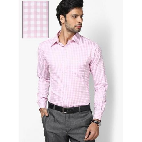 Park Avenue #Formal Slim Fit Cotton Pink Shirt @ Looksgud.in ...