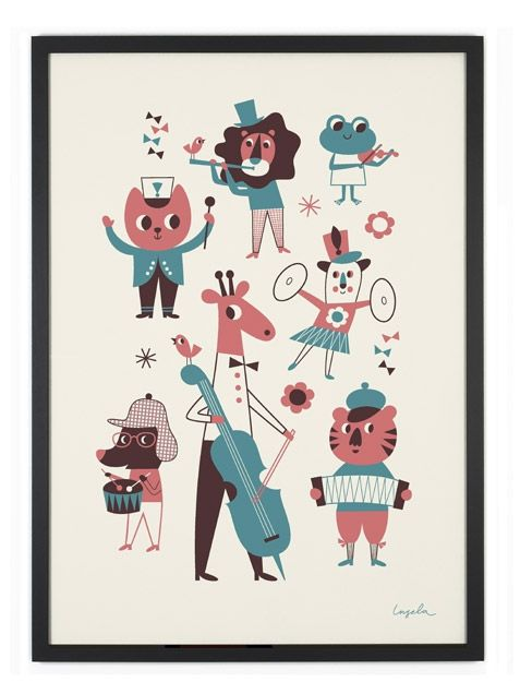 OMM Design Orkester Poster (50x70cm) Kinderposter
