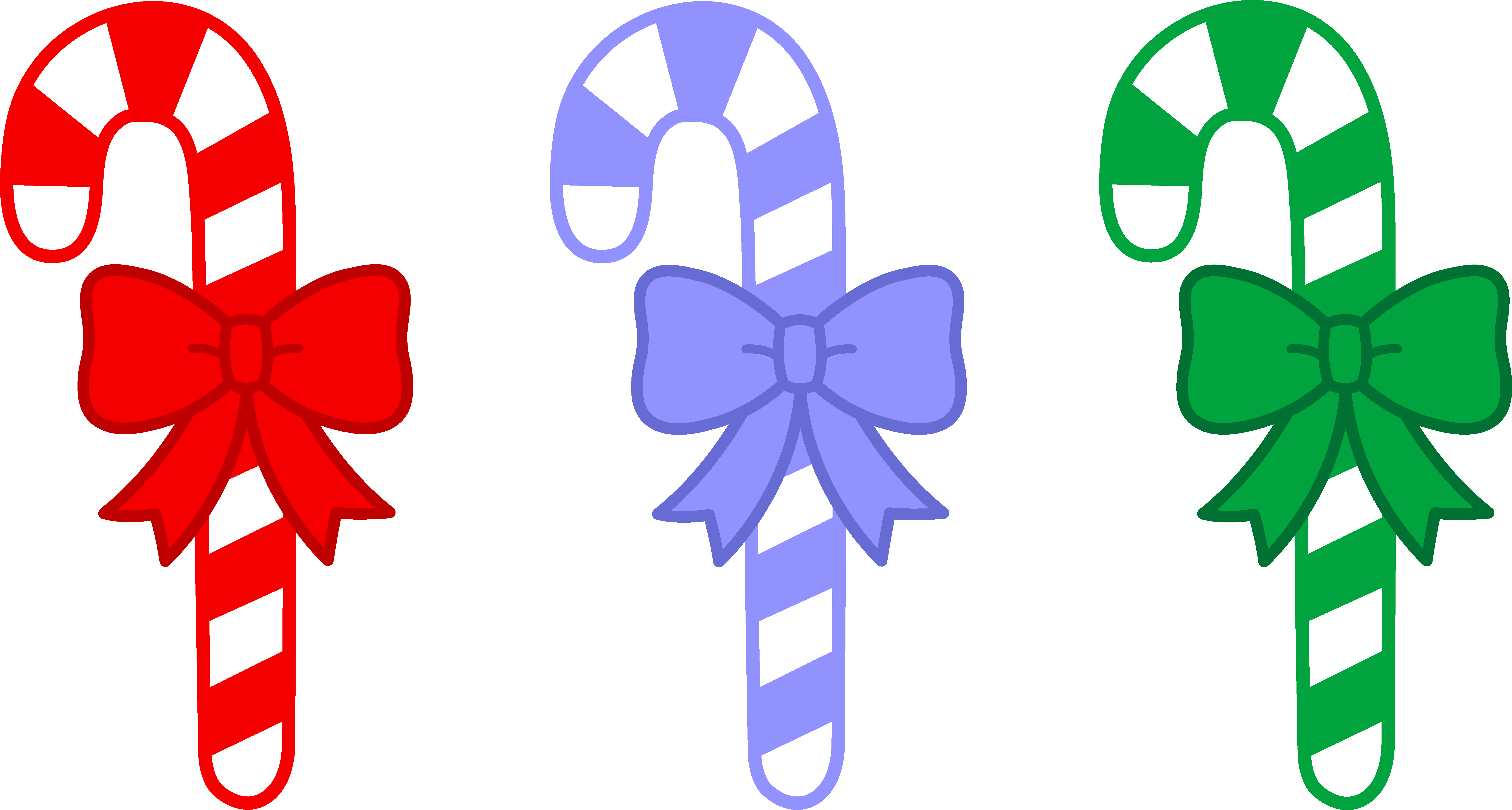 Candy cane bow. Alf img showing clip