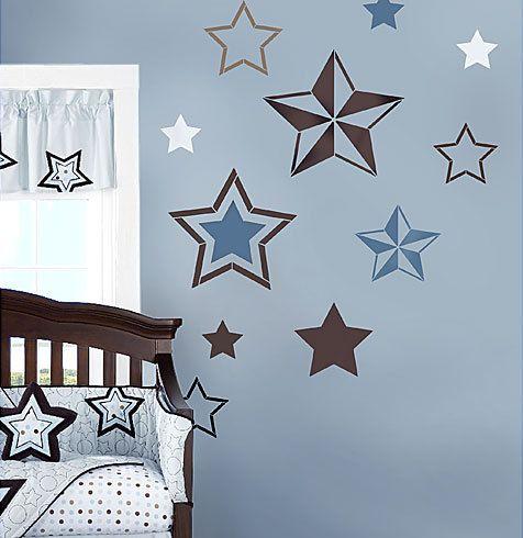 Kids Bedroom Stencils 7 stars stencil kit - wall art - nursery stencil - kids room decor
