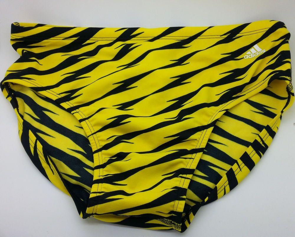 Adidas infinitex mens performance yellowblack swimwear
