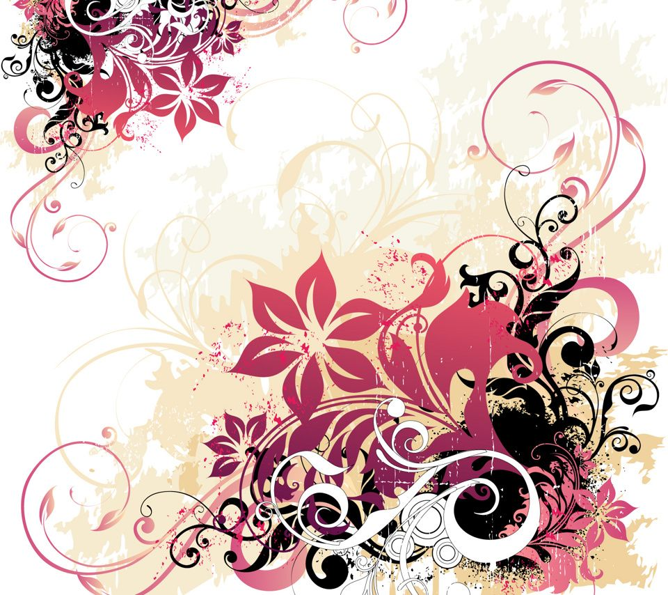 Pretty watercolor flowers background Vector | Free Download