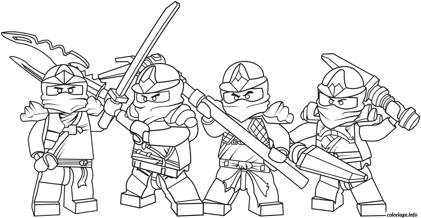 Lego Ninjago Team Coloriage 9651 In 2020 Lego Coloring Pages