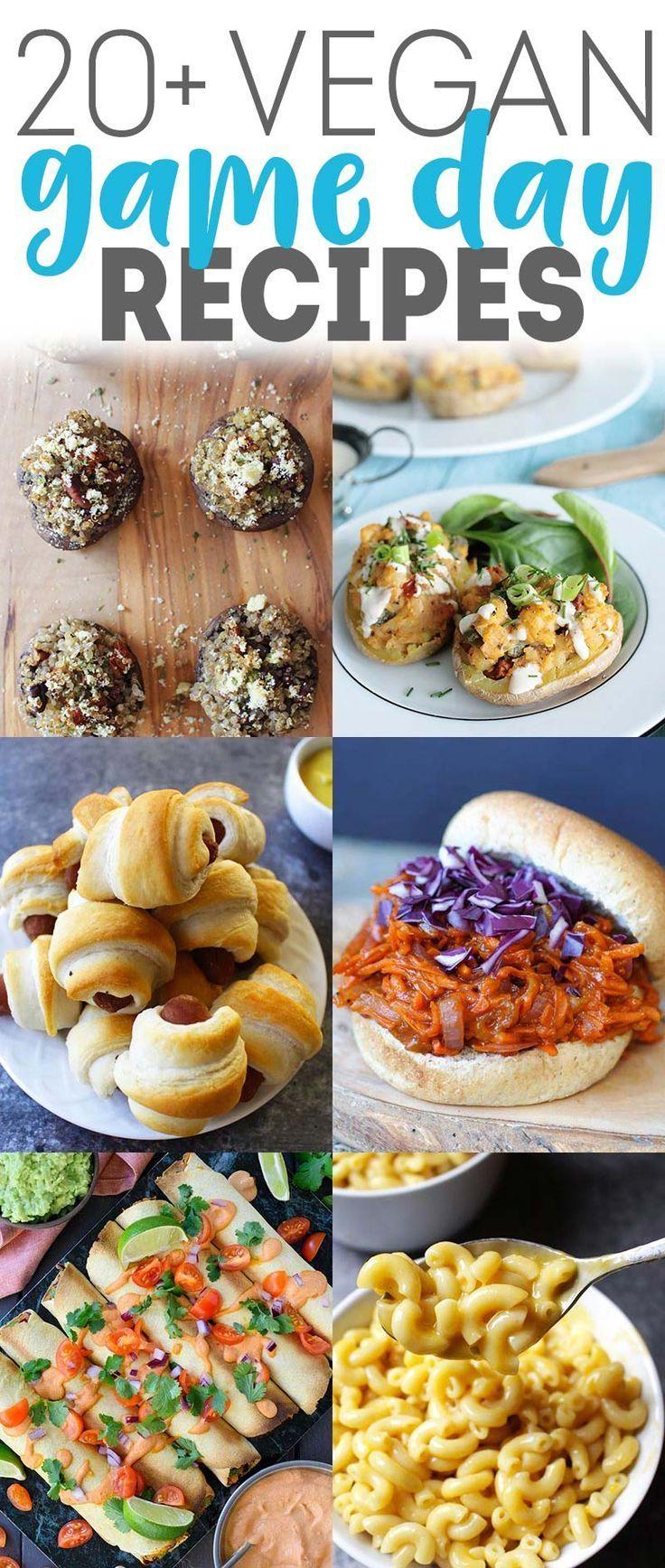 Vegan Game Day Food (15+ Recipes!) #gamedayfood
