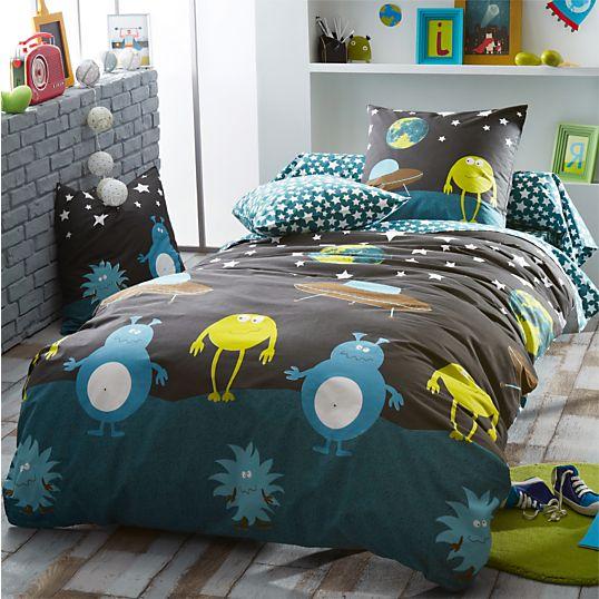 housse de couette monsters tradilinge housses de couette enfant linge de lit enfant linge. Black Bedroom Furniture Sets. Home Design Ideas