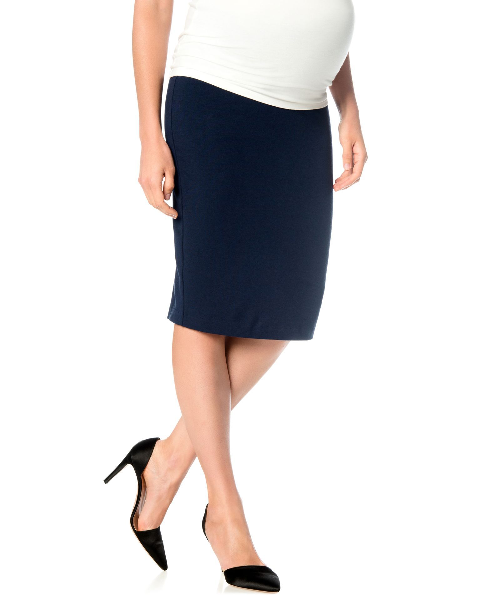8336d04035 A Pea In The Pod Maternity French-Terry Pencil Skirt