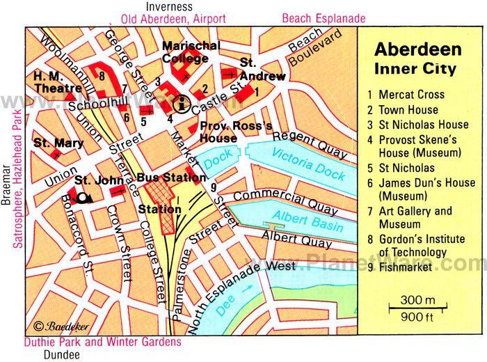 Aberdeen Map Tourist Attractions Trippin Pinterest Scotland