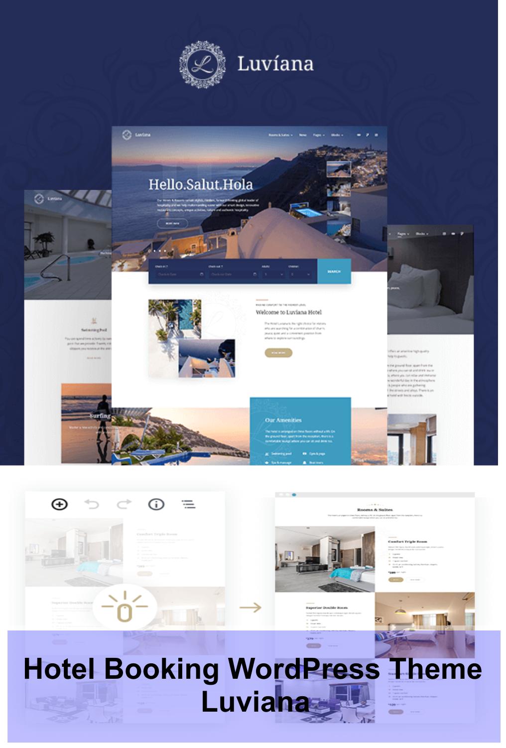 Hotel Booking Wordpress Theme Luviana Wordpress Theme Website Design Wordpress Wordpress Theme Design