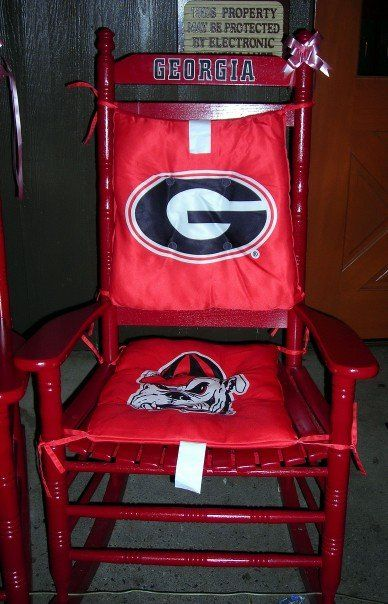 Fabulous Georgia Rocking Chair I Want It Go Dawgs Georgia Gmtry Best Dining Table And Chair Ideas Images Gmtryco