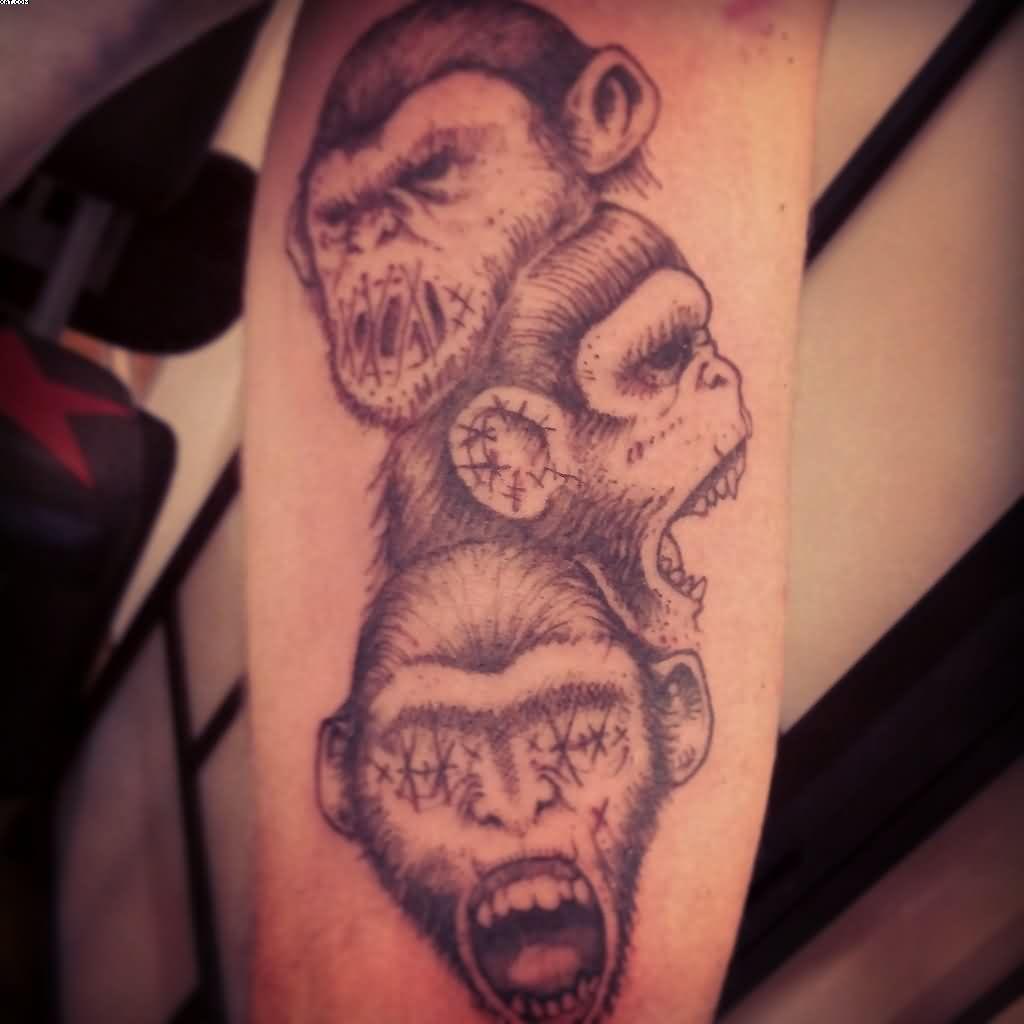 ca4d61a6c Three Wise Monkeys, Evil Tattoos, Shadow Tattoo, Beautiful Tattoos, Tattoo  Designs,