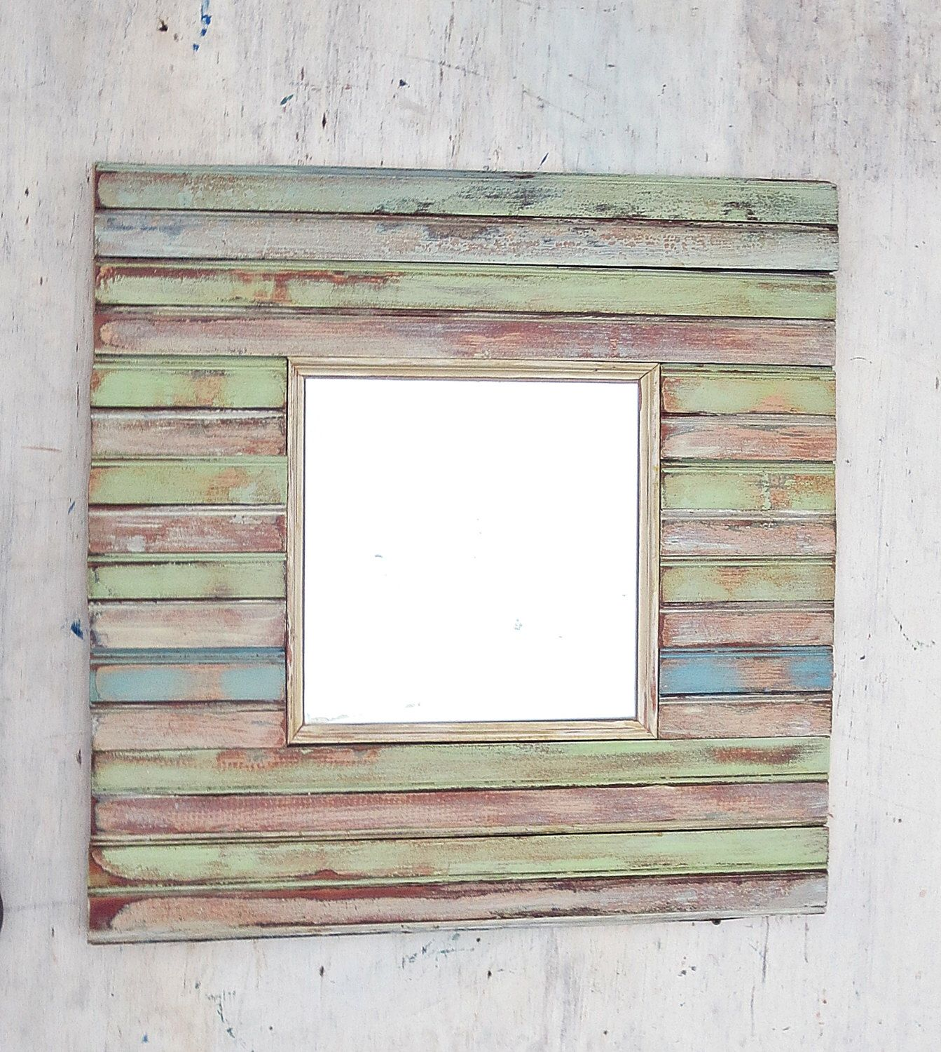 Reclaimed Wood Mirror, Rustic Mirror, Decorative Mirror, Rustic Wall Decor,