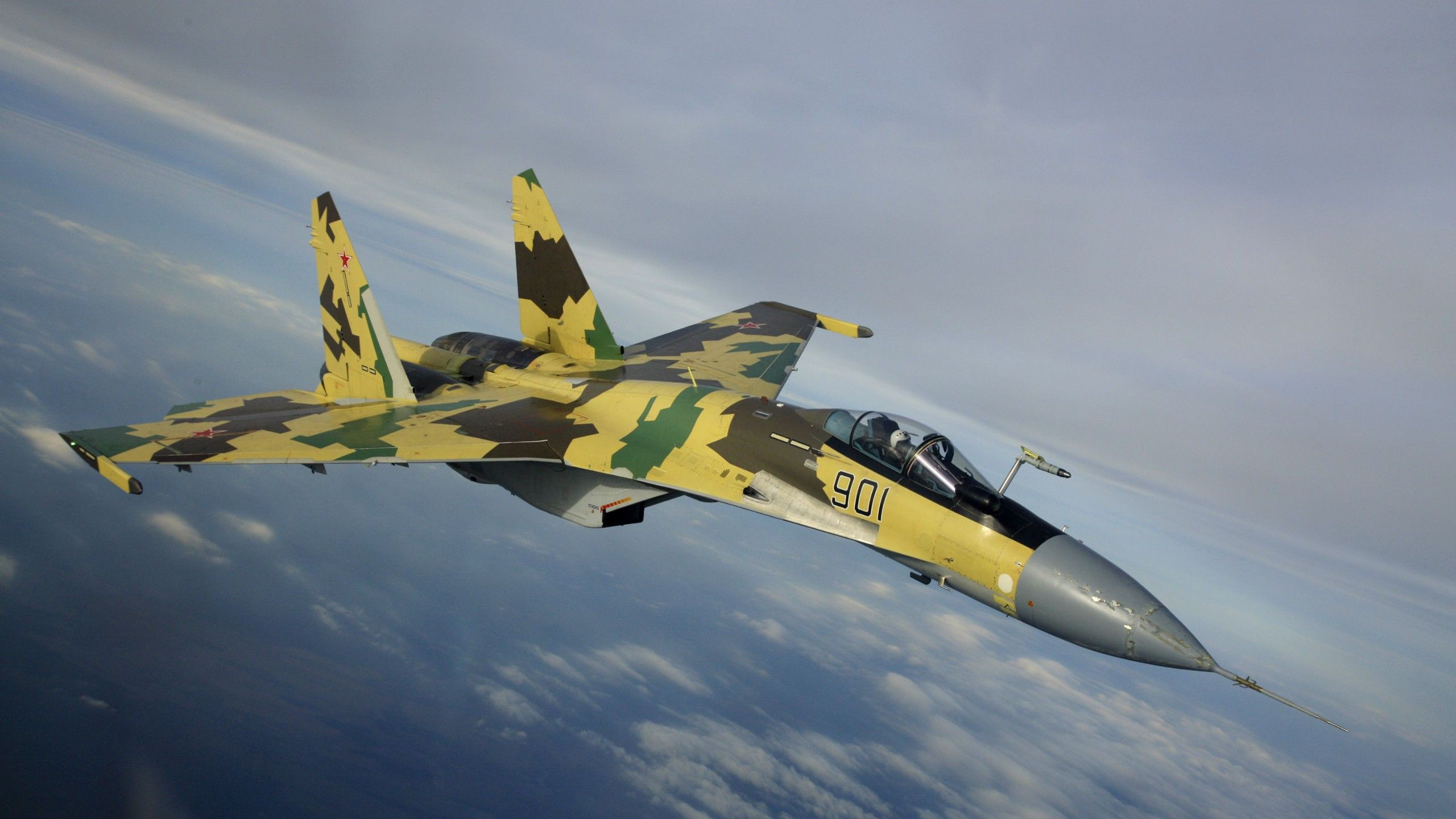 Military Aircraft Jet Fighter Sukhoi Su 35 Russian Air Force Wallpaper