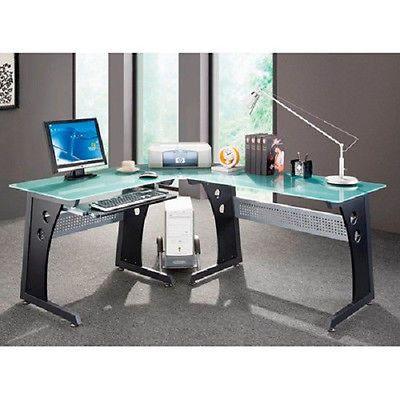 Corner Desk Techni Mobili L Shaped Computer Desk 858108000398 Computer Desk Desk Glass Corner Desk