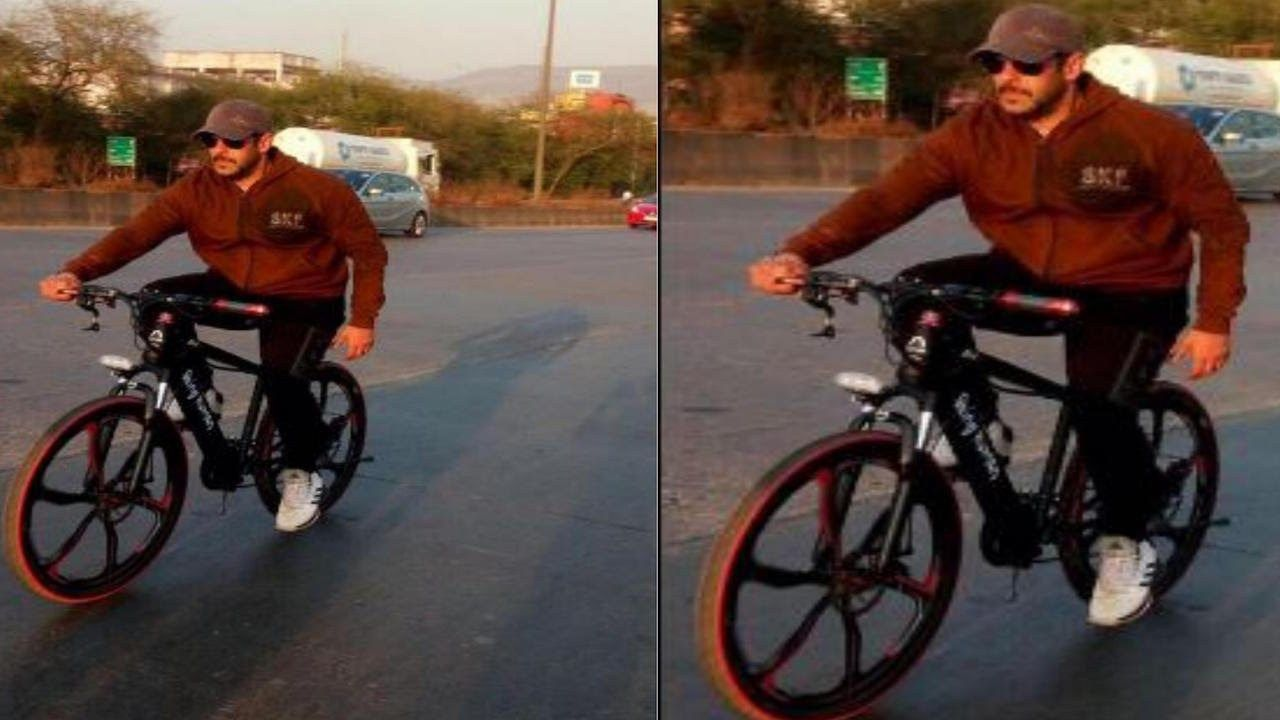 Salman Khan's love for his bicycles is well known. The superstar often takes his bicycle for a ride in the busy streets of Mumbai with his bodyguards also cycling close to him.The superstar this time took to cycling close to his farmhouse in Panvel, but he still could not escape the cameras as a...