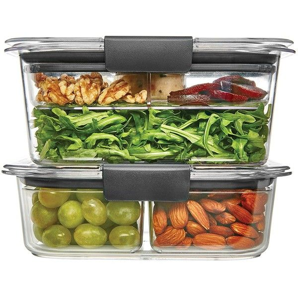Rubbermaid Brilliance Food Storage Container Set 22 Piece Clear Mesmerizing Rubbermaid Brilliance Saladsnack Lunch Container Combo Kit Clear Design Inspiration